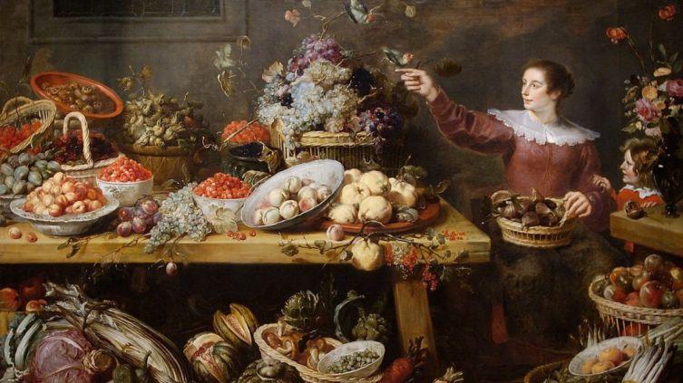 Франс Снейдерс. Натюрморт с фруктами и овощами
