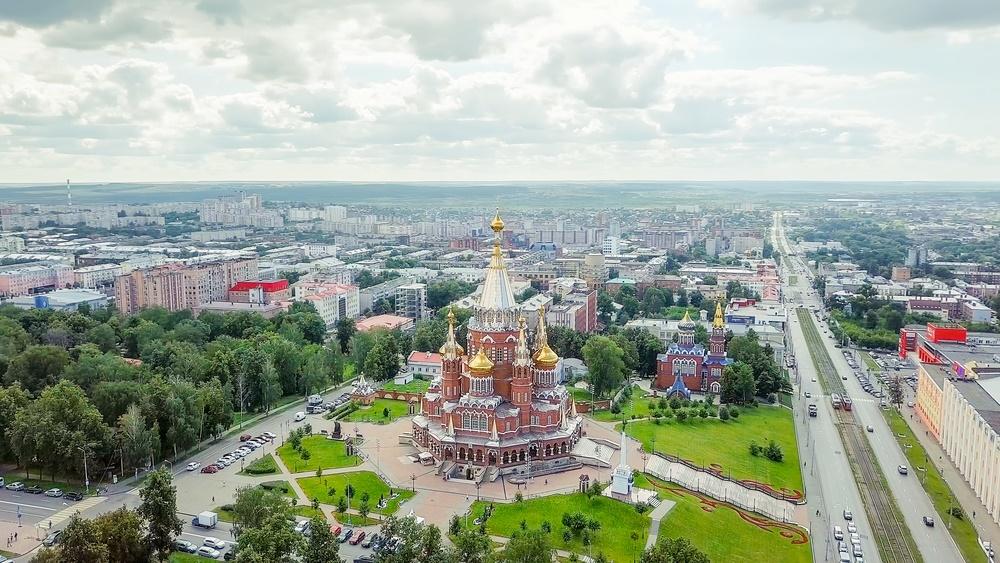 Вид города Ижевск, Россия