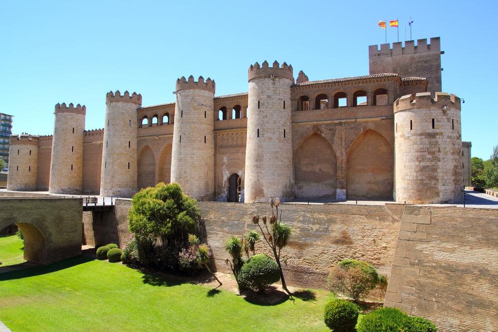 Алхаферия, дворец-крепость в Сарагосе, Испания
