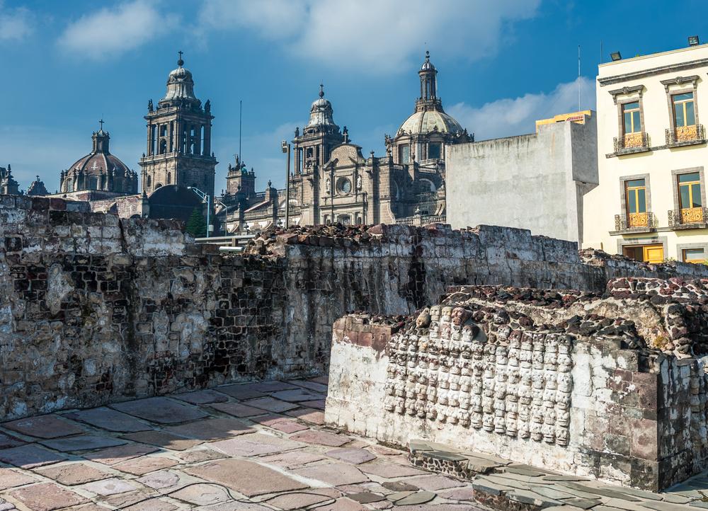 Исторический центр г. Мехико (Мексика). Главный храм Теночтитлана