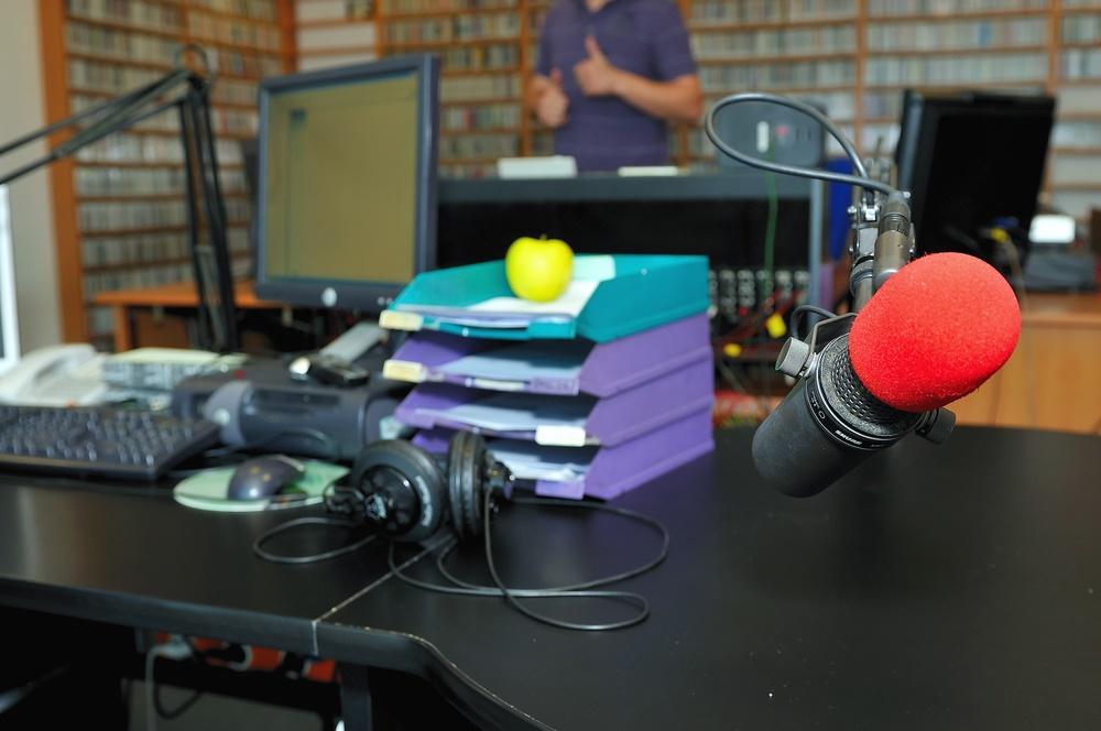 В радиостудии
