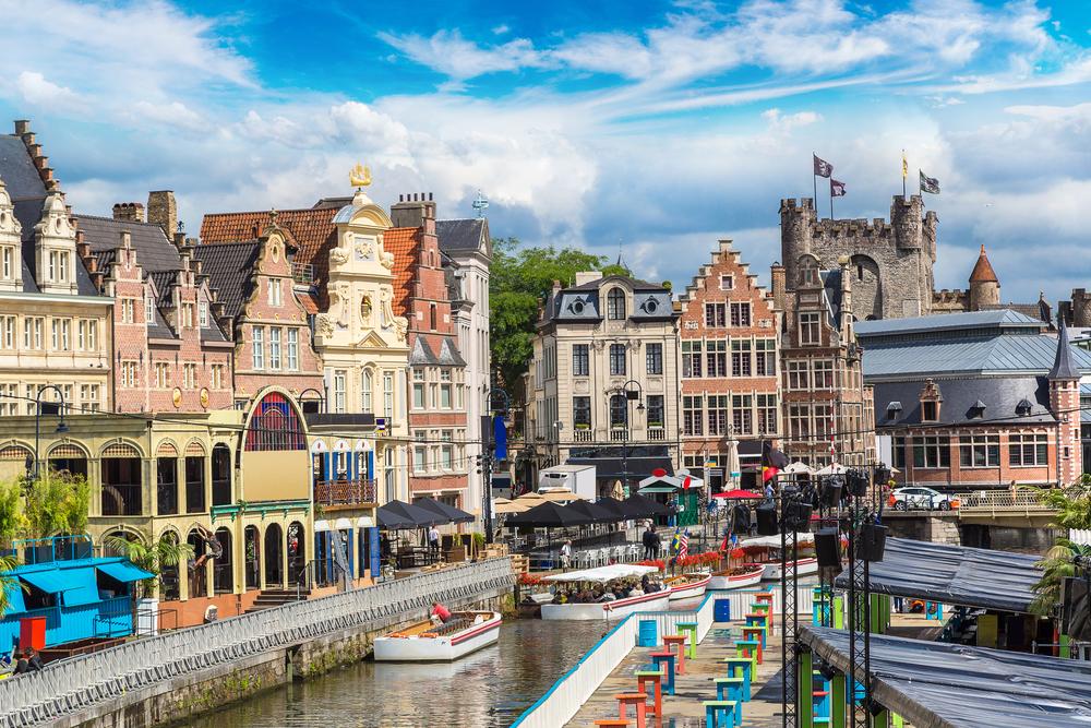 Вид города Гент (Бельгия)
