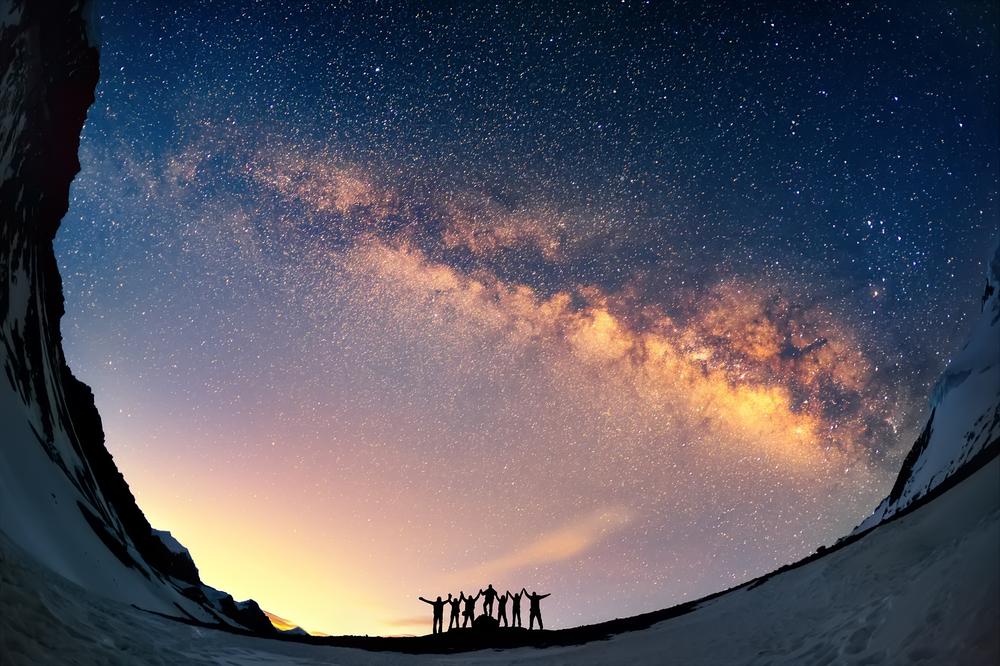 Вид на Млечный Путь