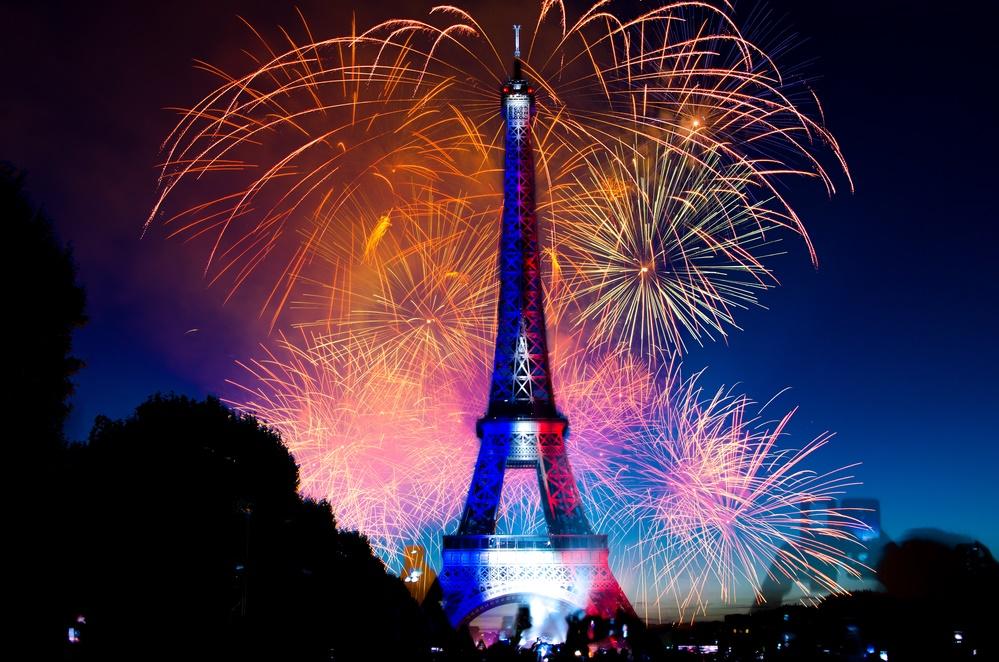 Празднование 14 июля в Париже, Франция