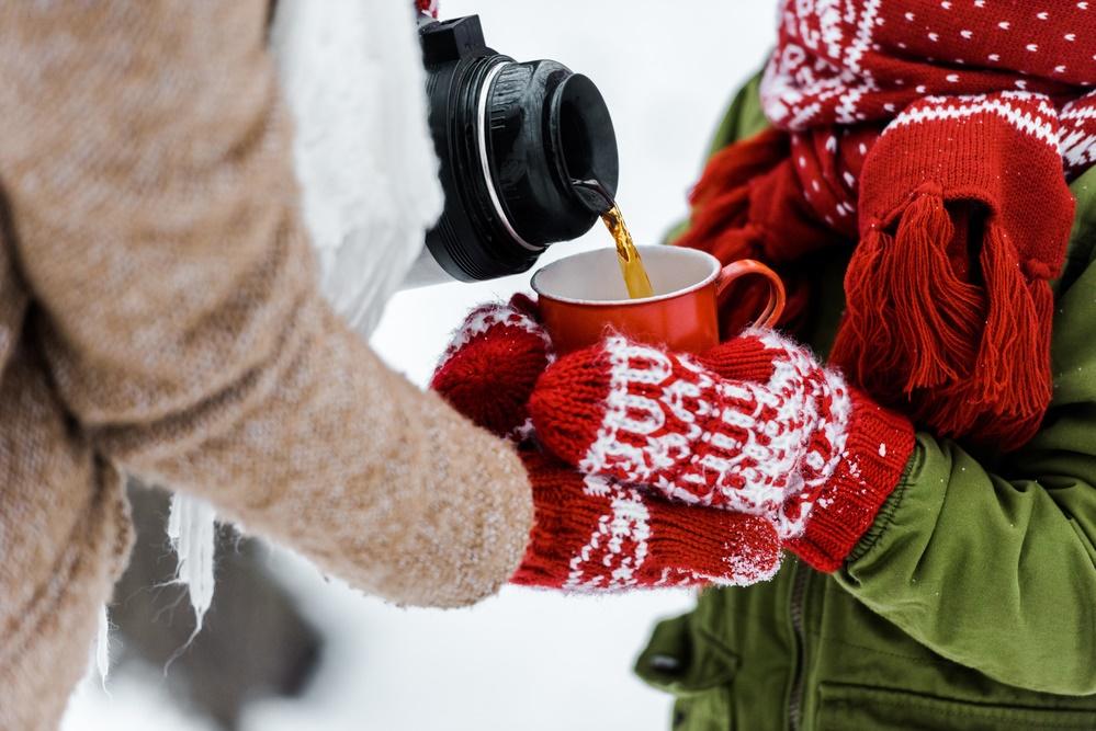 Как же хорошо согреться на морозе вкусным чаем!