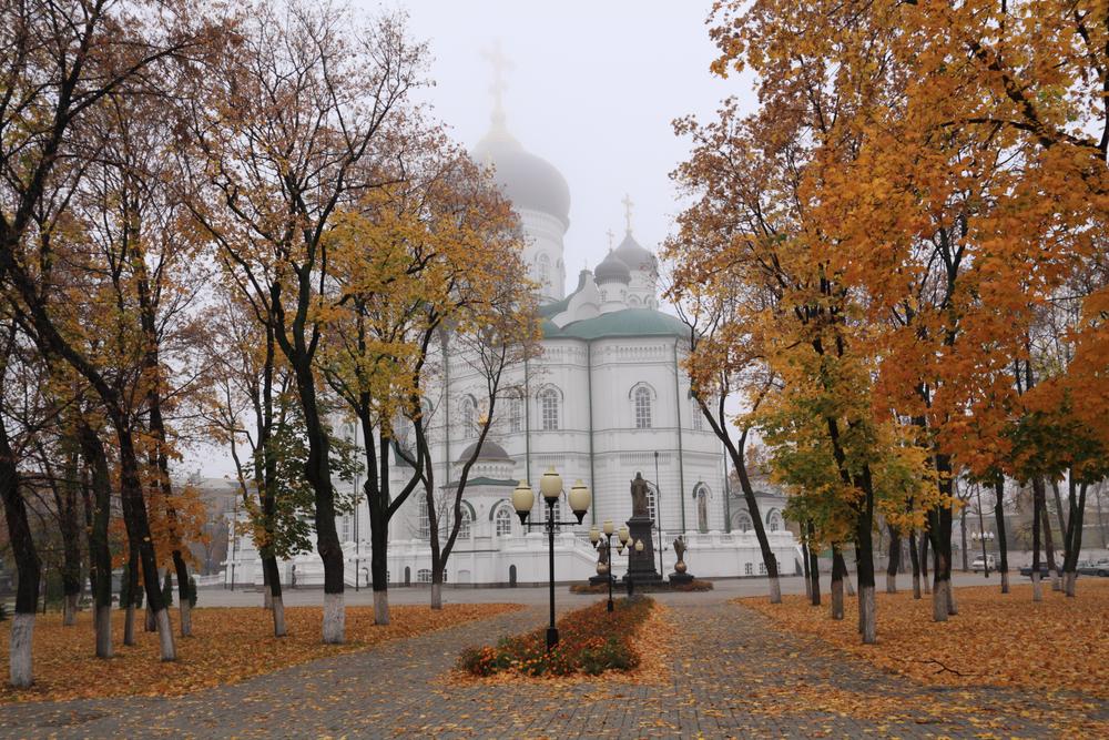 Осень в Воронеже. Вид на Благовещенский собор