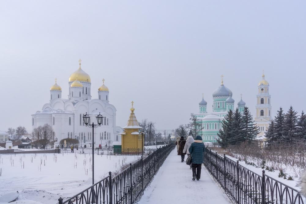 Серафимо-Дивеевский монастырь зимой