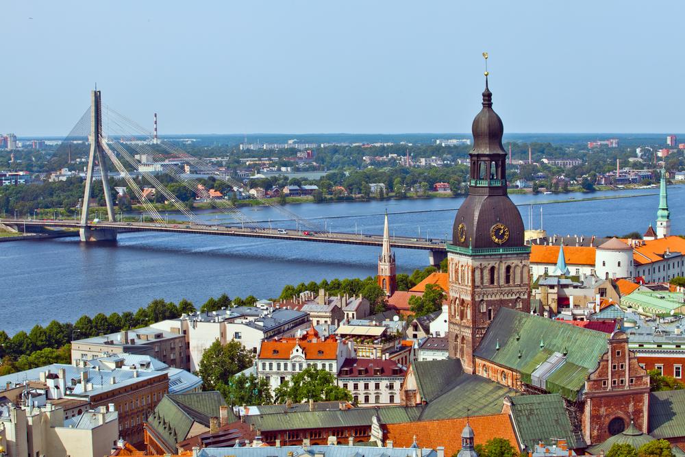 Вид города Рига