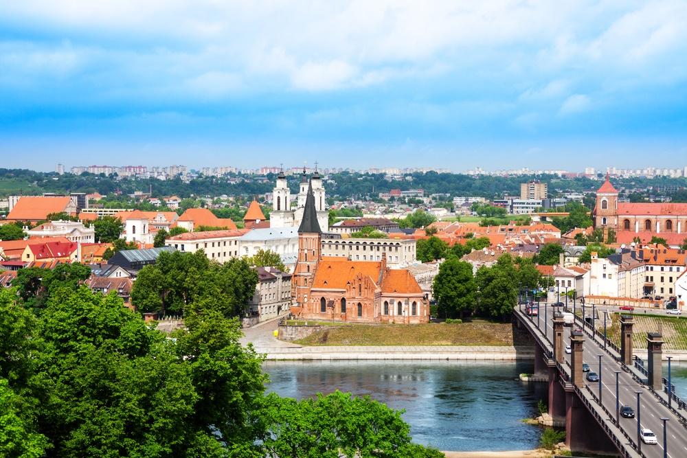 Вид города Каунас, Литва