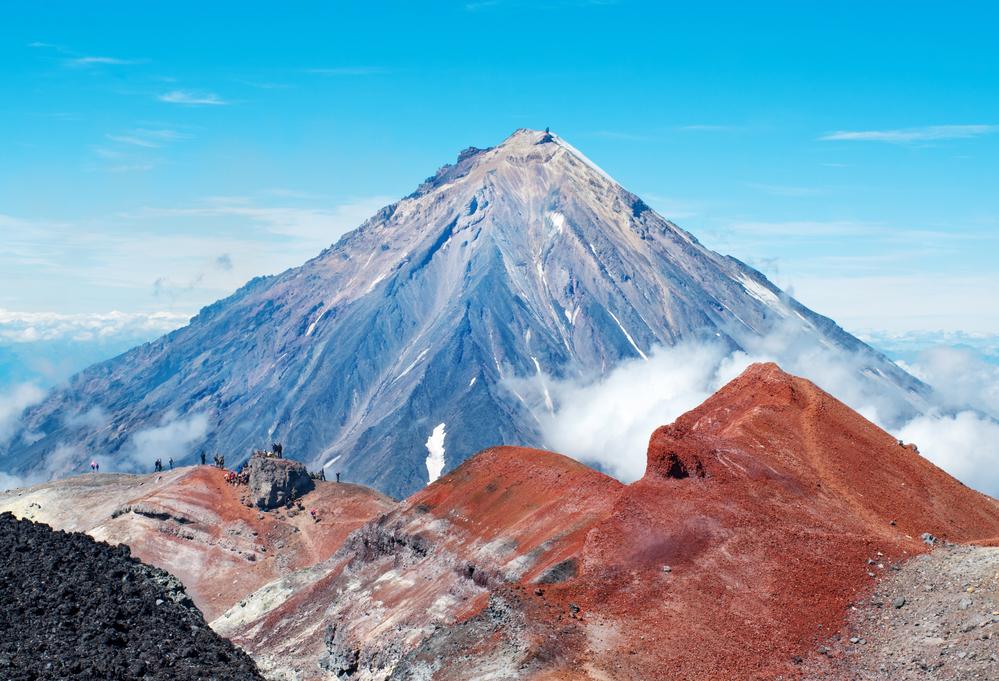 Камчатка. Вид на вулкан Корякский
