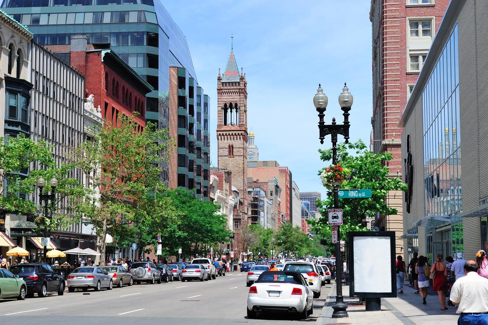 На улицах Бостона (США)