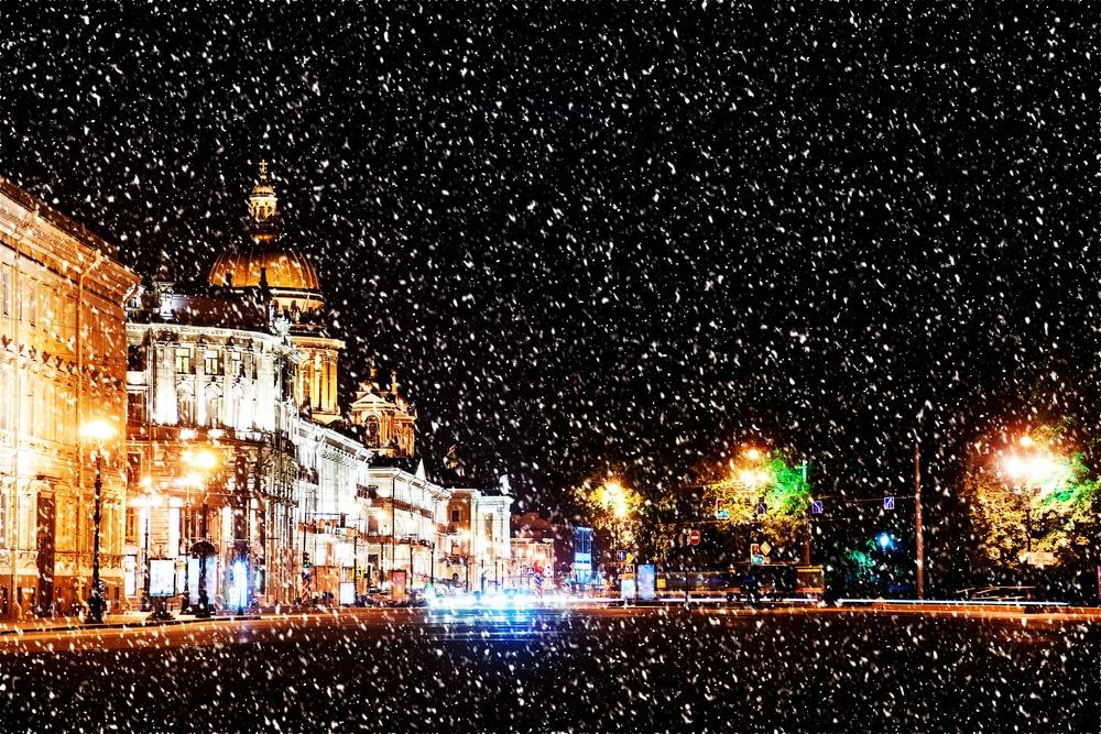 Вечерний зимний Петербург