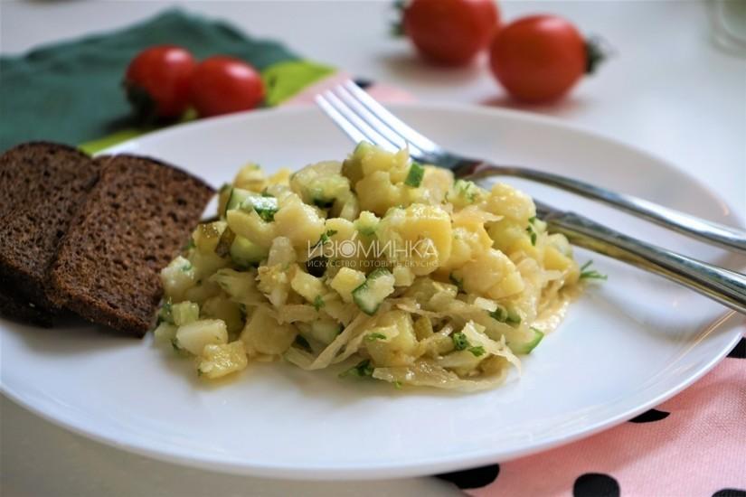 Картофельный салат с квашенной капустой от Izuminka.net