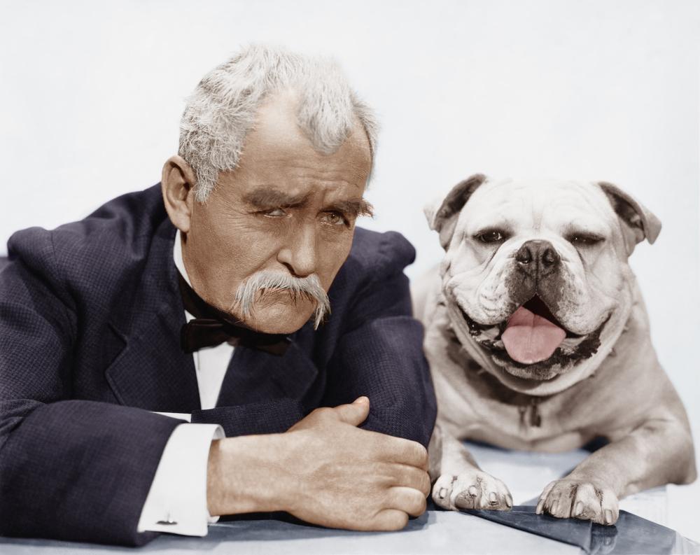 Настоящий джентельмен и его собака