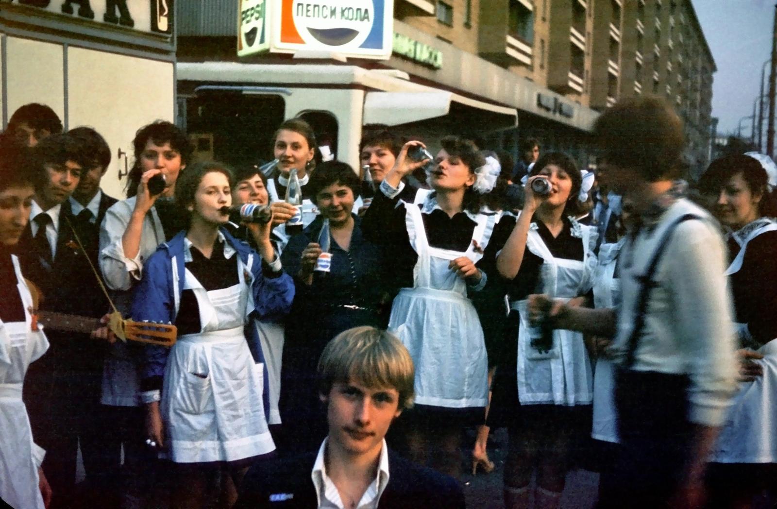 Последний звонок в школе № 856 в Москве, 1981 г.