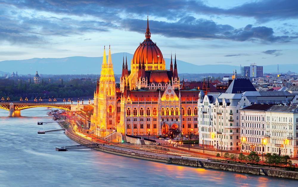Вид города Будапешт