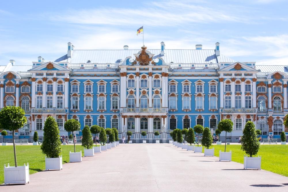 Екатерининскй дворец в заповеднике Царское Село
