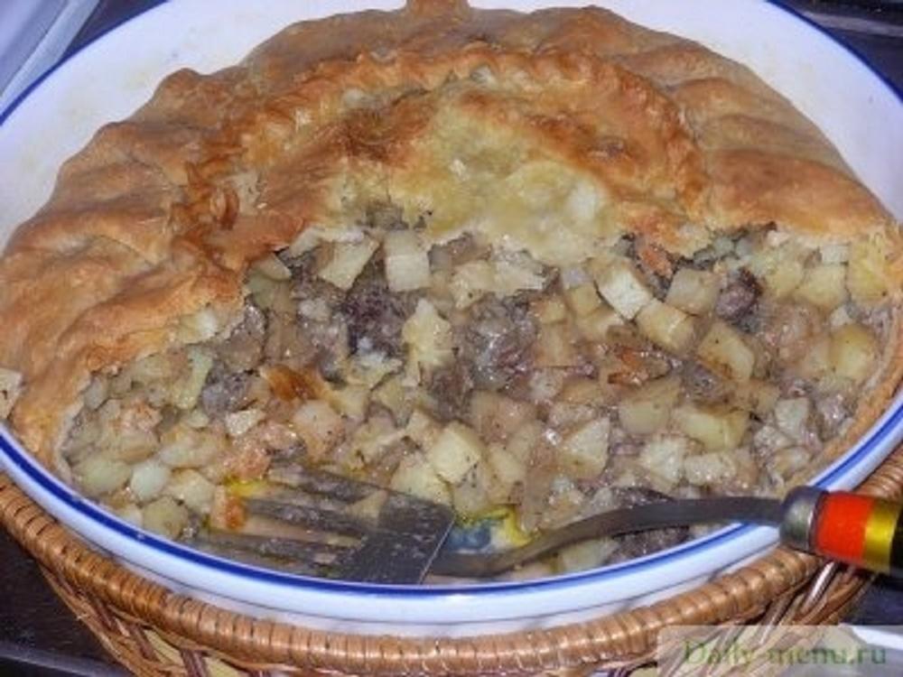 Татарский пирог с мясом