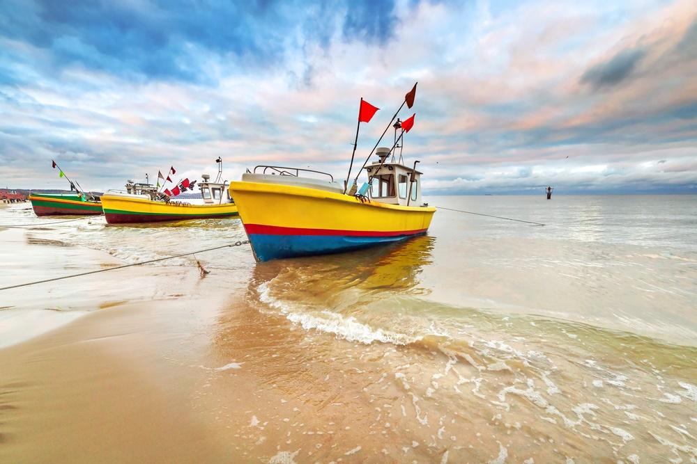 Рыбацкие лодки готовы к ловле