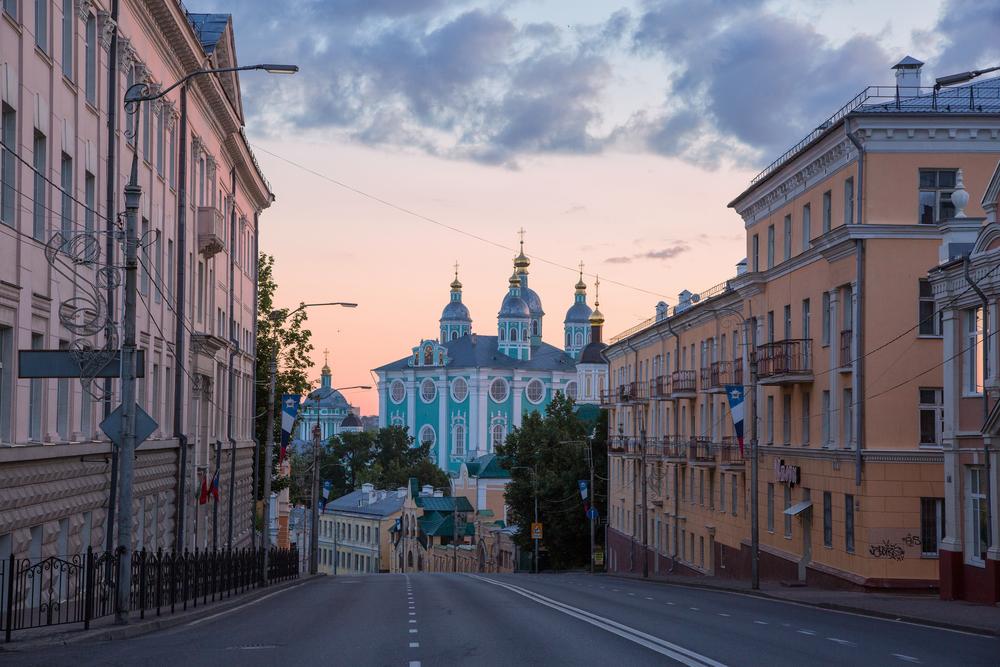Вид г. Смоленск. Раннее утро