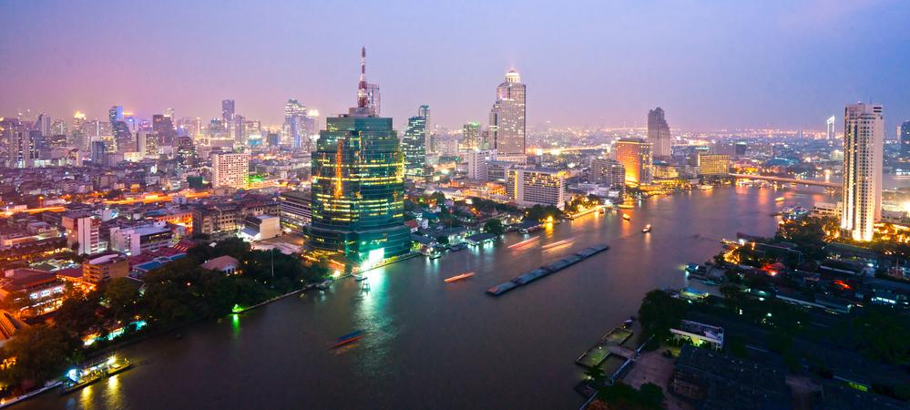 Вечерний Бангкок. Таиланд