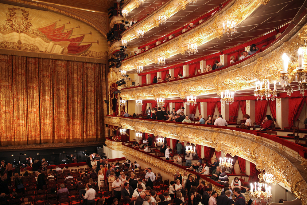 Сцена Большого театра в Москве