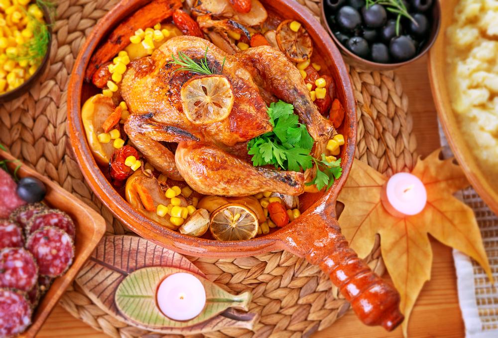 Традиционный обед на День Благодарения в США