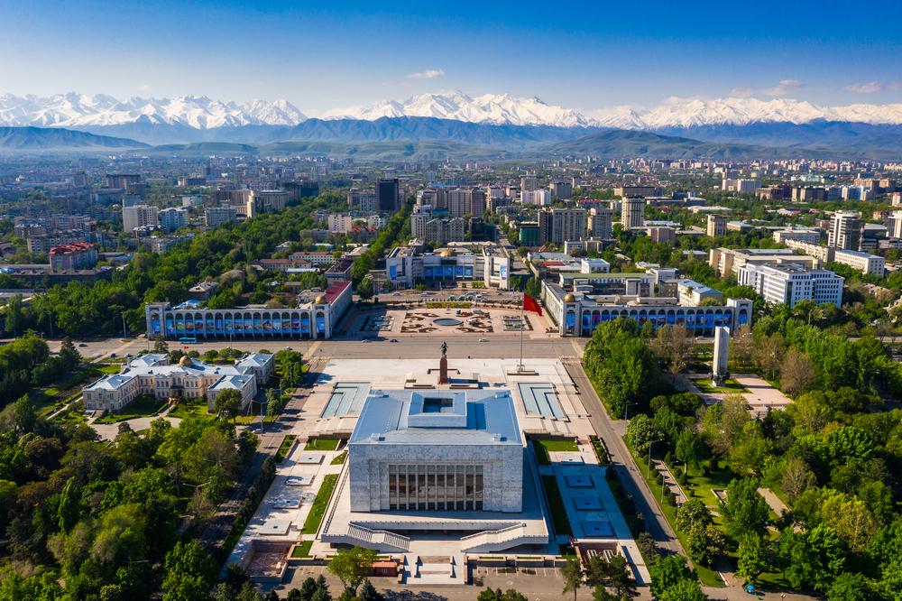 Панорама г. Бишкек, Киргизстан