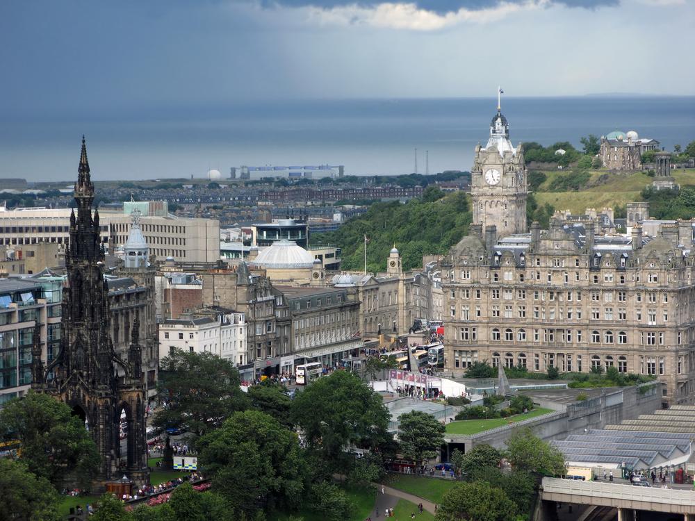 Вид города Эдинбург, Шотландия