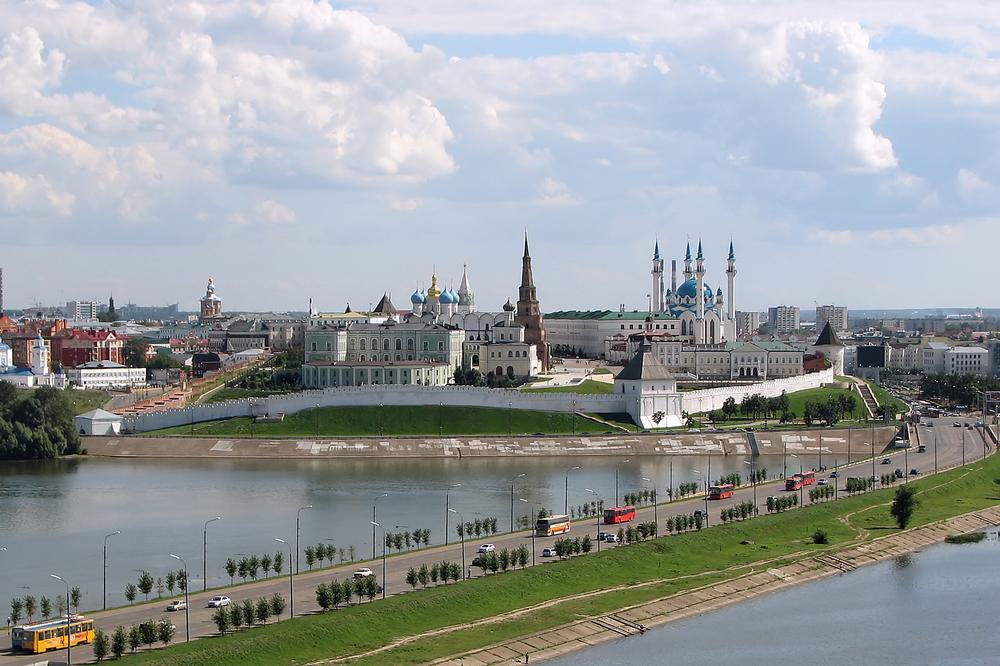 Вид города Казань