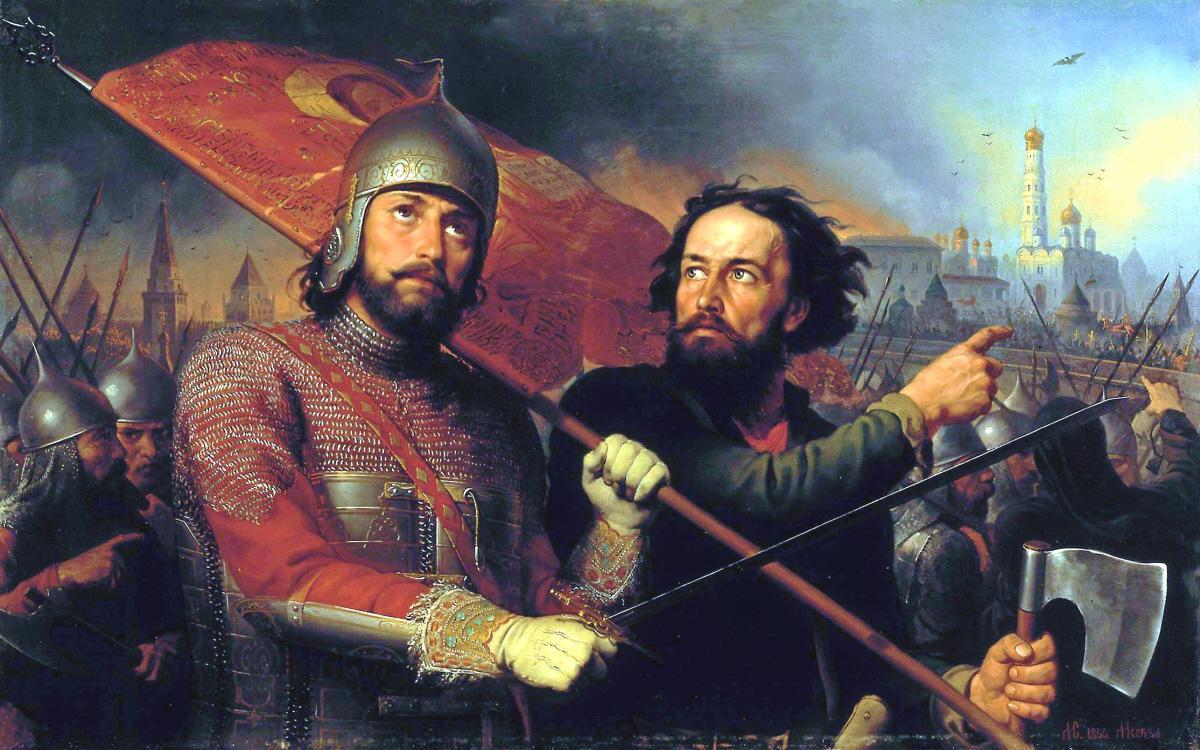 Картина М.И. Скотти «Минин и Пожарский»