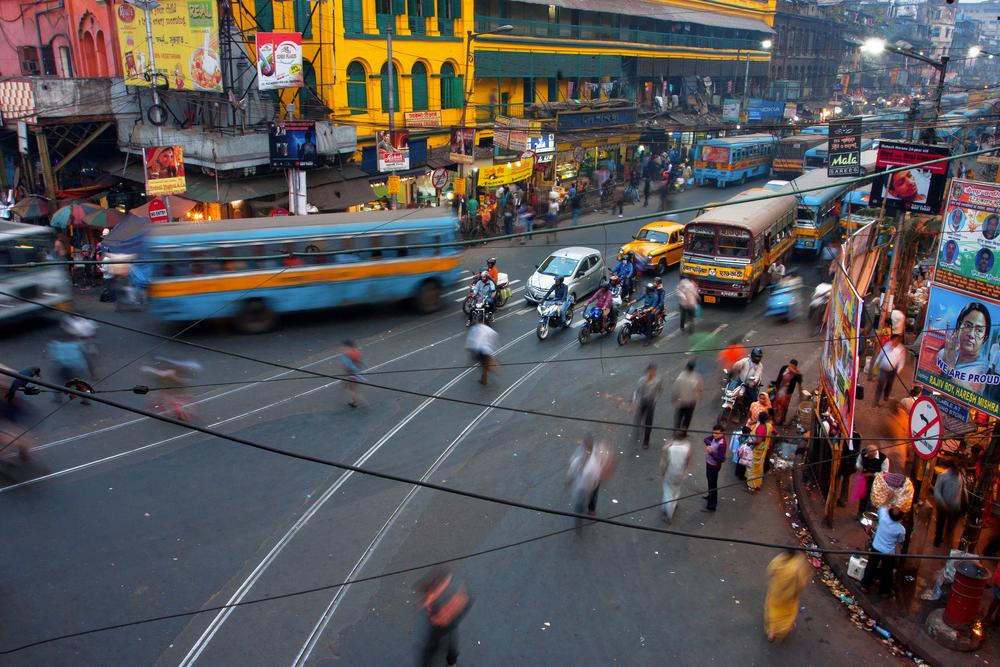 На улицах Калькутты, Индия