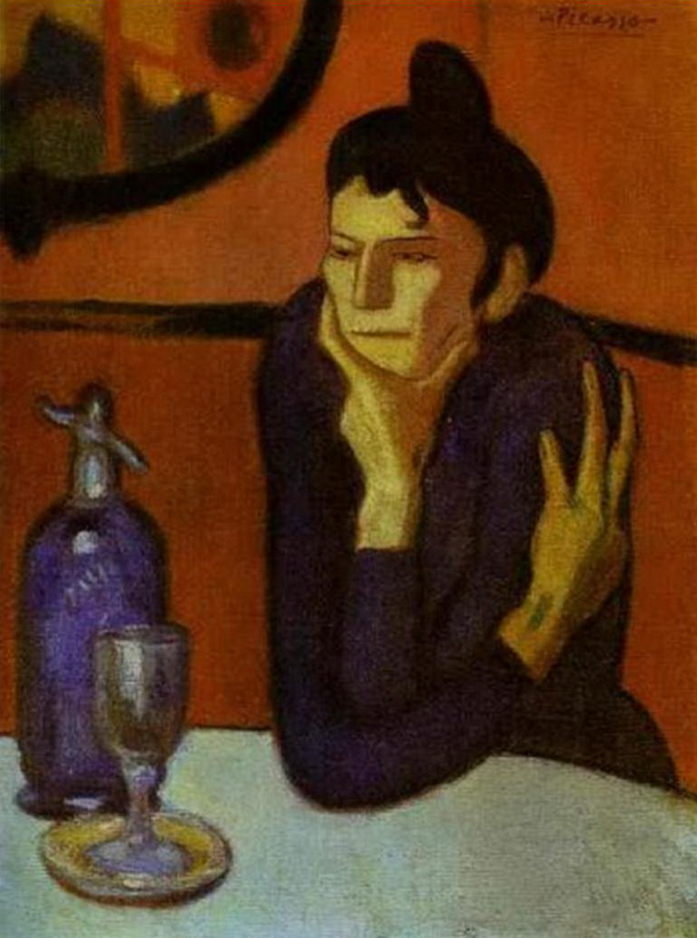 Государственный Эрмитаж, П.Пикассо, «Любительница абсента», 1901 г.