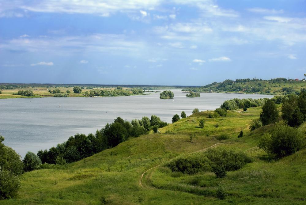 Российские просторы.Река Ока недалеко от Рязани
