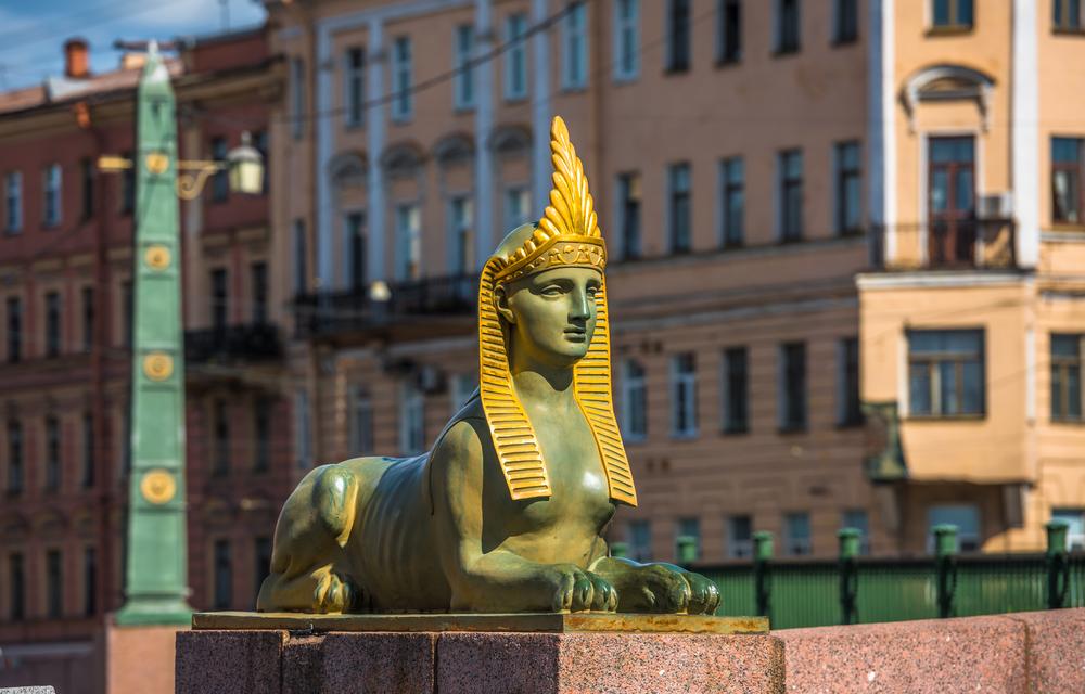 Сфинкс Египетского моста в Санкт-Петербурге