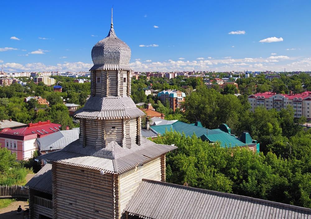 Деревянный кремль Томска