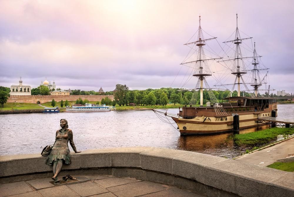 Великий Новгород: вид на реку Волхов