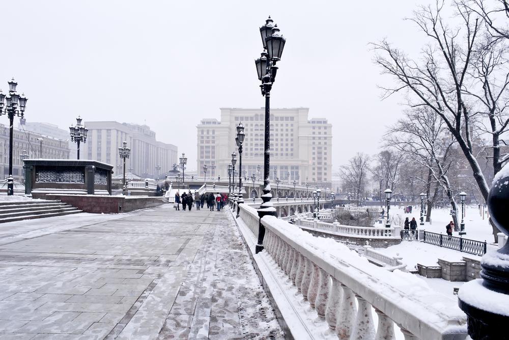 Москва в снегу
