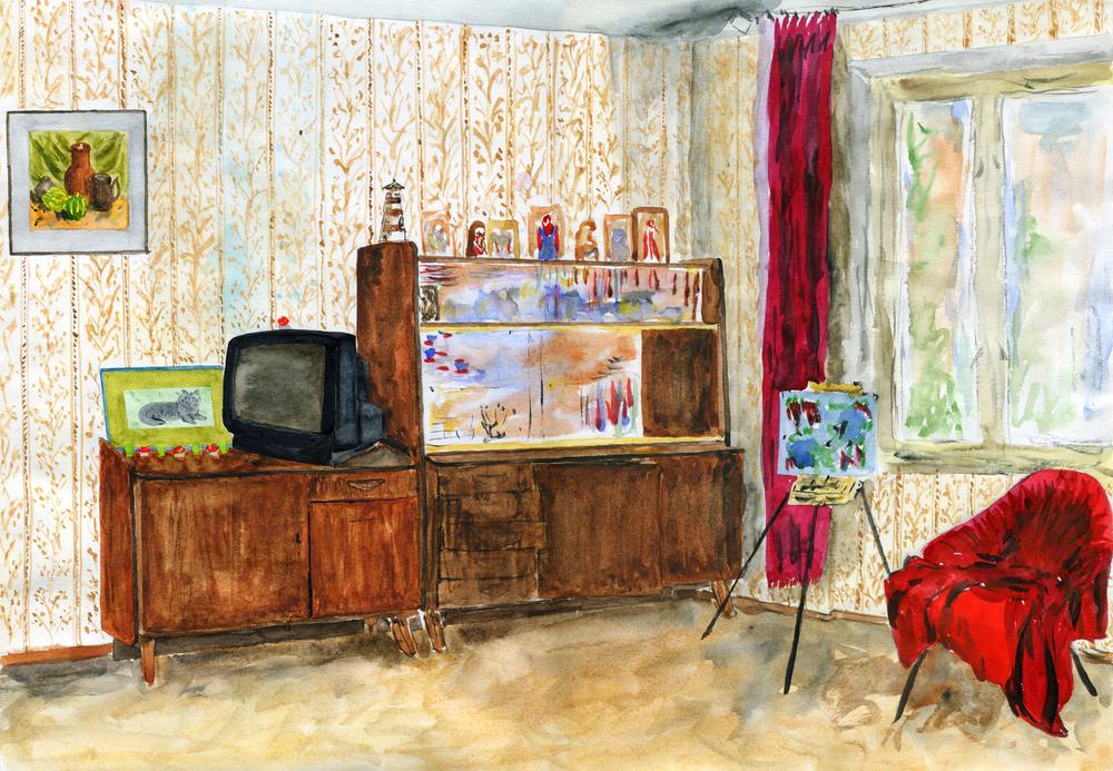 Типовой интерьер советской квартиры