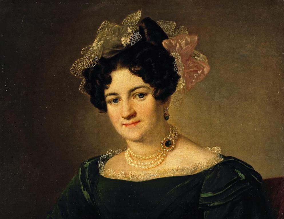 Тропинин. Портрет Пелагеи Ивановны Сапожниковой, урождённой Роcтовцевой (1799-1868)