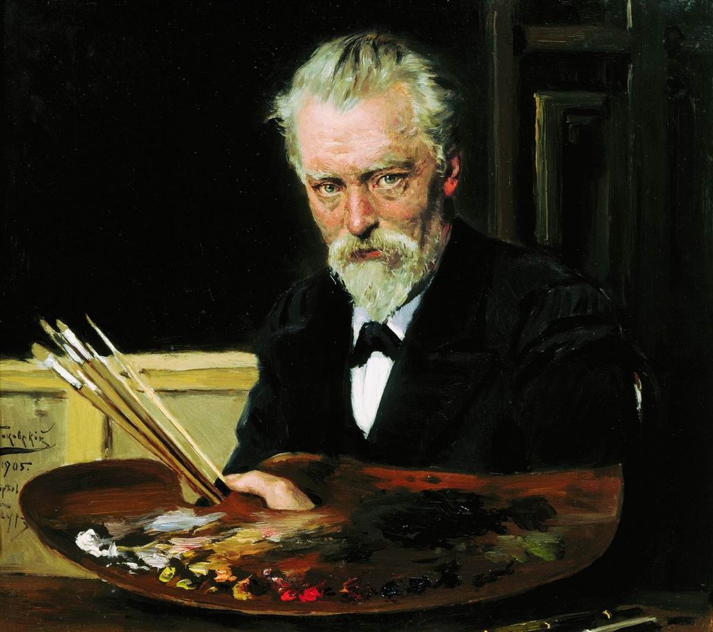 Владимир Егорович Маковский. Автопортрет. 1905 г.
