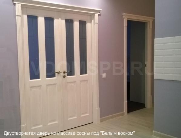 Двери натуральные деревянные сосновые в Алуште
