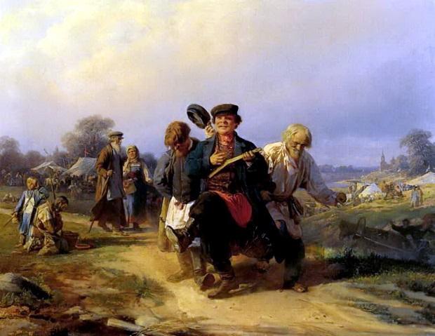 «Возвращение отца семейства с ярмарки» (1868)