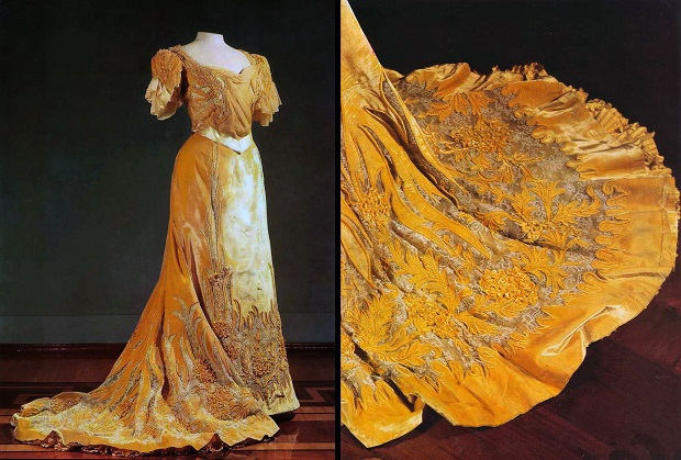 Платье императрицы Александры Фёдоровны, созданное в мастерской Надежды Ламановой