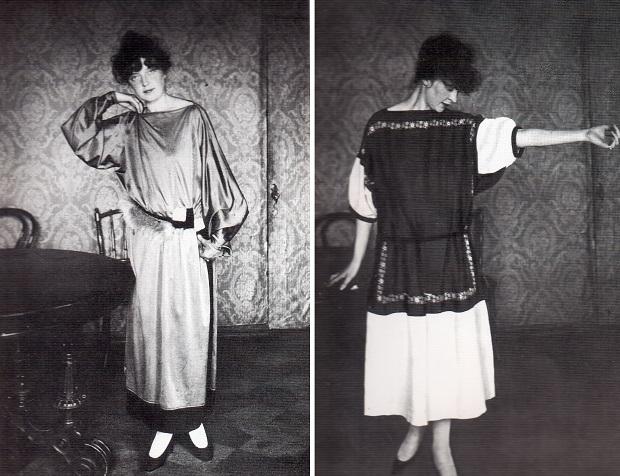 Модели платьев работы Надежды Ламановой (1923-1925)