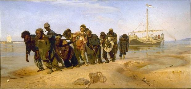 «Бурлаки на Волге» (1870-1873)