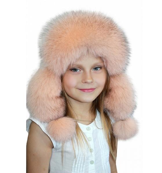 Теплые и стильные меховые шапки для мальчиков и девочек 15d12f5a2b9a2