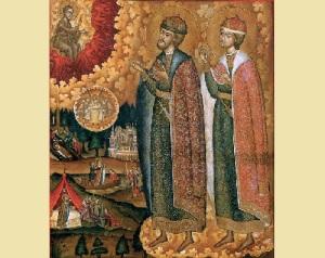 День памяти благоверных князей Бориса и Глеба, во святом Крещении Романа и Давида (1015)