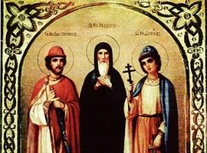 Обретение мощей благоверных князей Феодора Смоленского и чад его Давида и Константина, Ярославских чудотворцев (1463)
