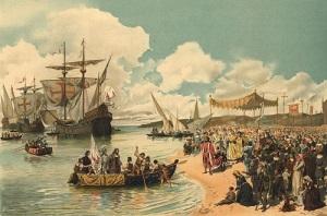 Экспедиция португальского мореплавателя Васко да Гамы покинула Лиссабон